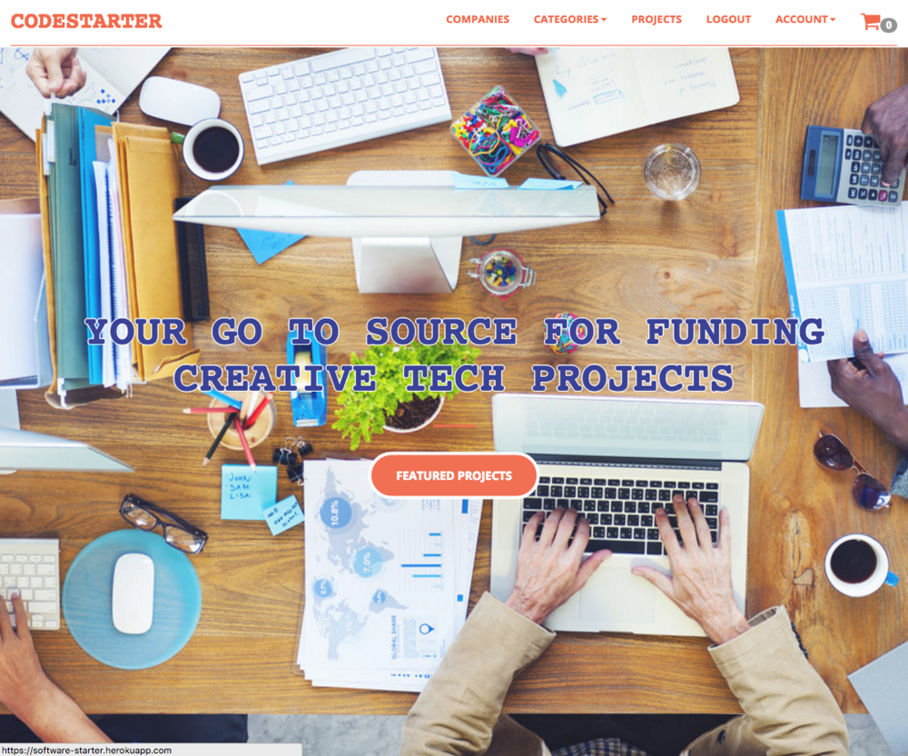 CodeStarter is a multi-tenant fundraising application that allows software developers to attract micro-funding from registered users.