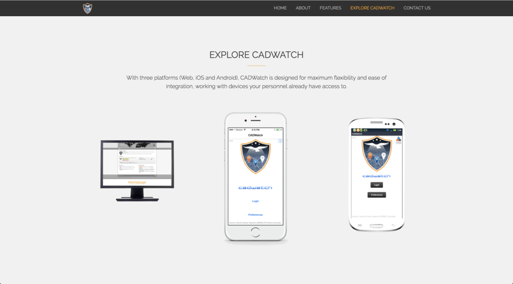 Explore CADWatch Page