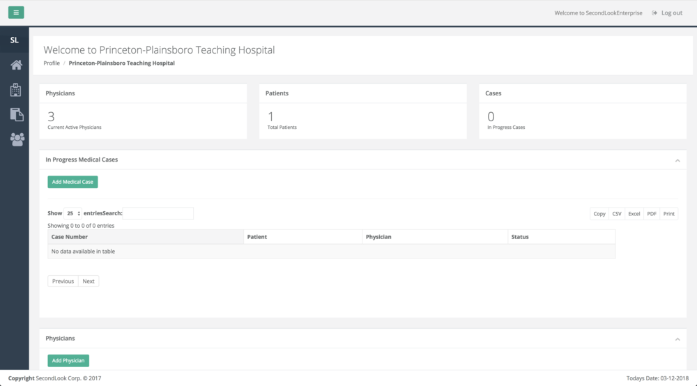 Facility Admin Dashboard