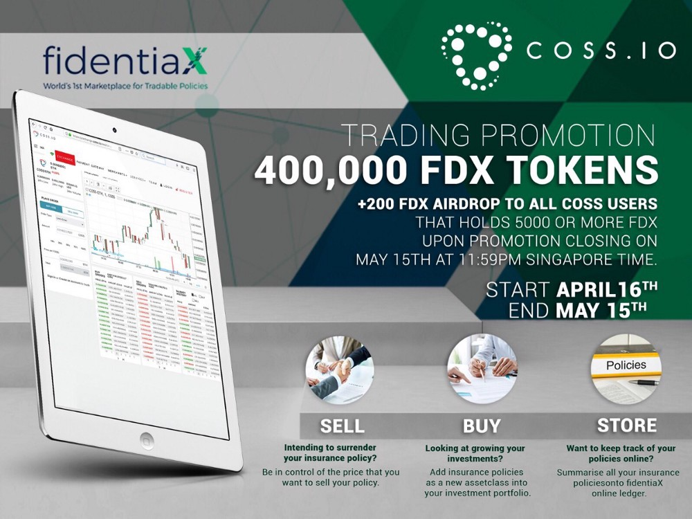 Trading & Airdrop Campaign with coss.io