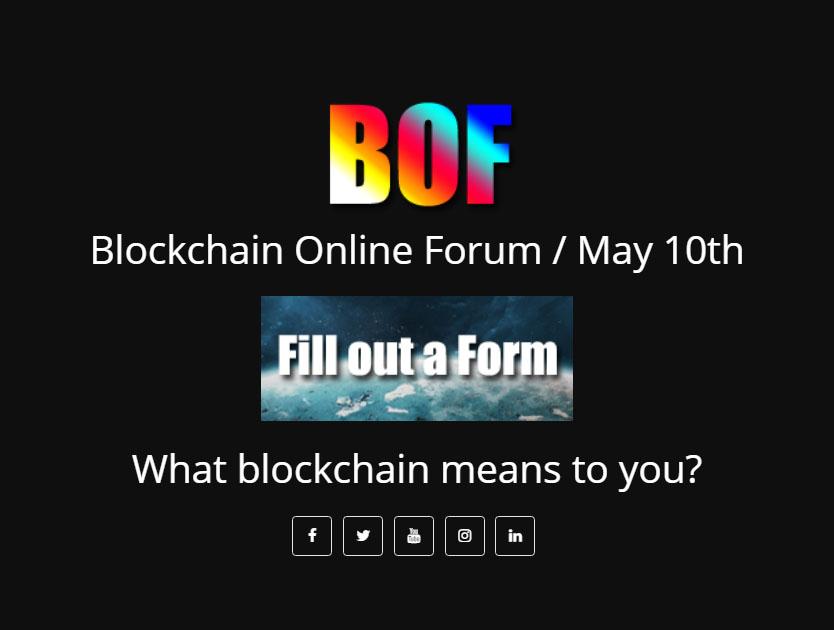 Blockchain Online Forum - Youtube Live