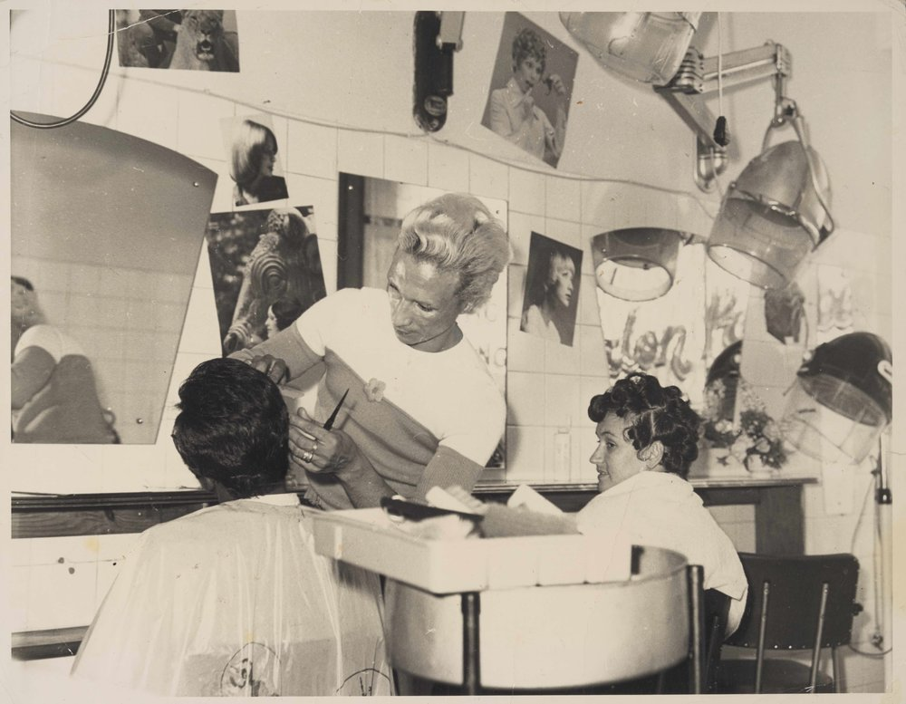 Kewpie Cutting Someone's Hair
