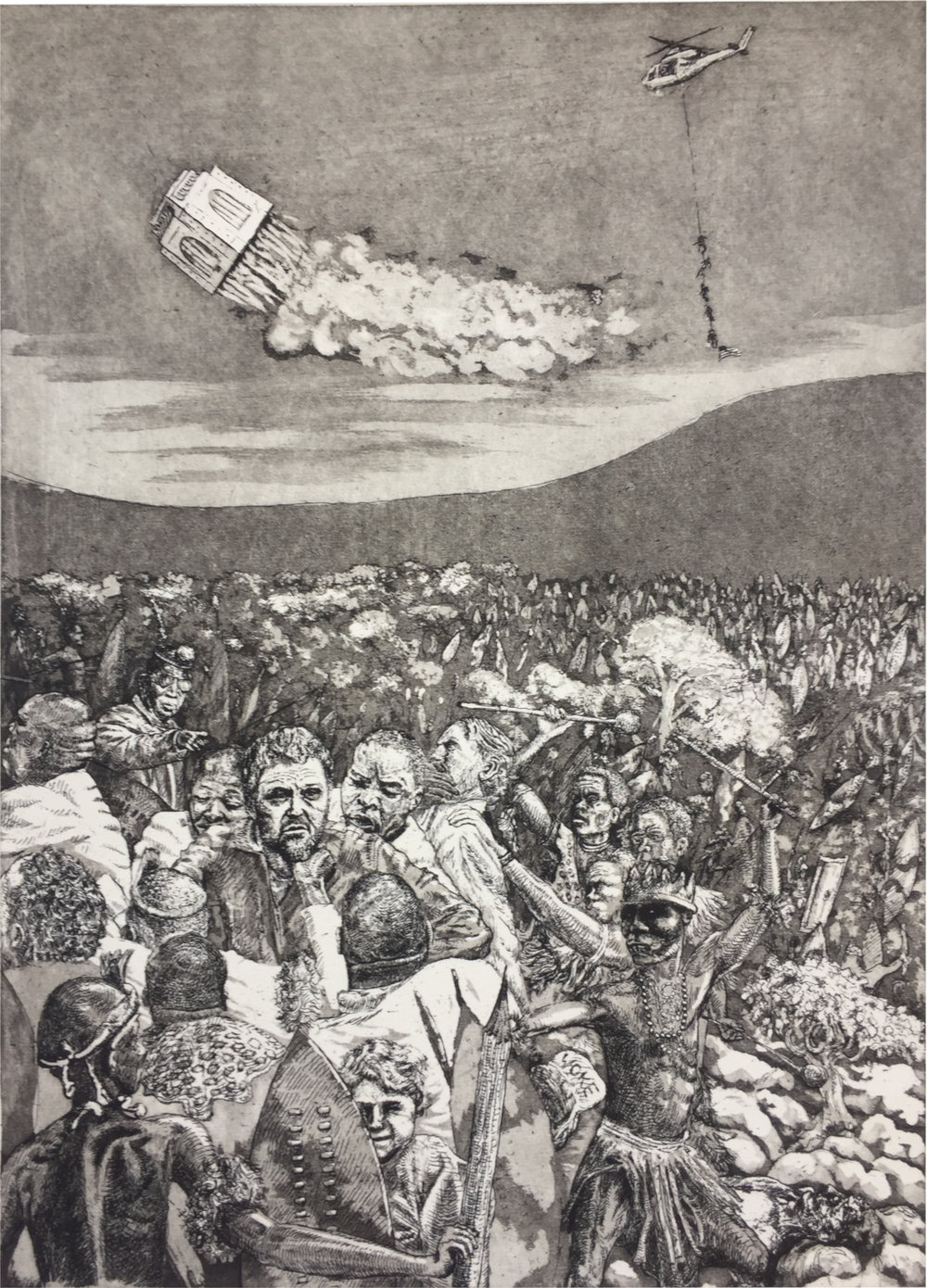 Dingaansdag (triptiek, links)