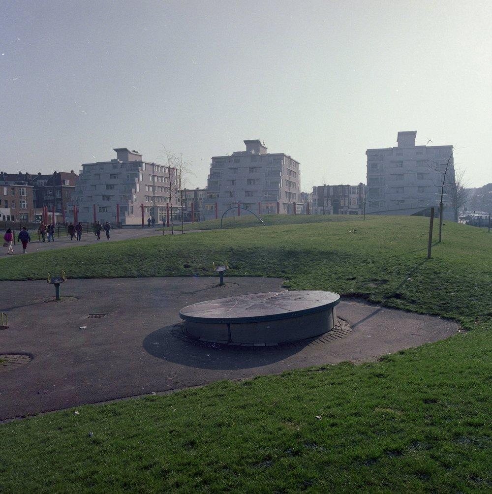 Kempstraat vanaf Schalk Burgerplein (1993) / Foto: Bert Mellink