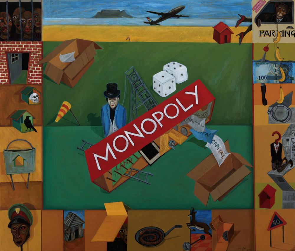 Richard Mudariki,  Monopoly  (2018), Barnard Gallery.
