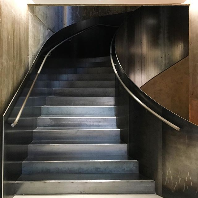 Raw steel staircase at Stella McCartney's new flagship on Old Bond Street #london