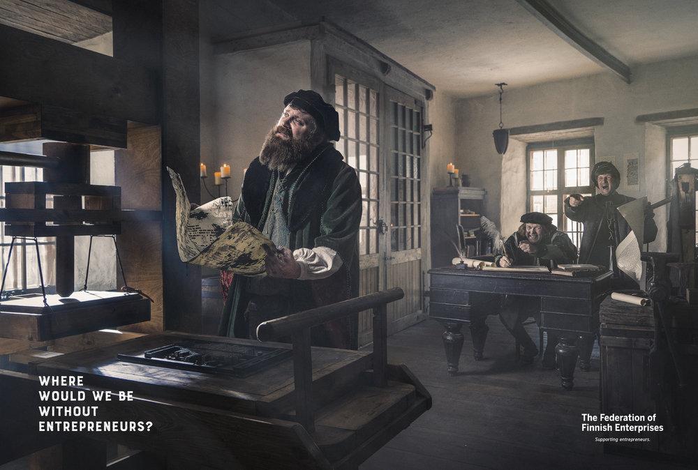 Yrittäjät - Strasbourg 1436 / Gutenberg