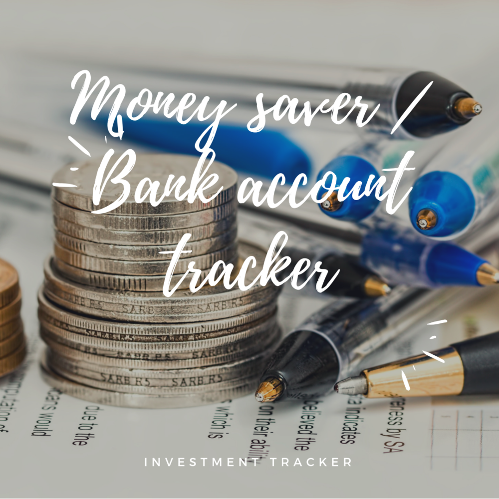 simple money saver bank account tracker investment tracker