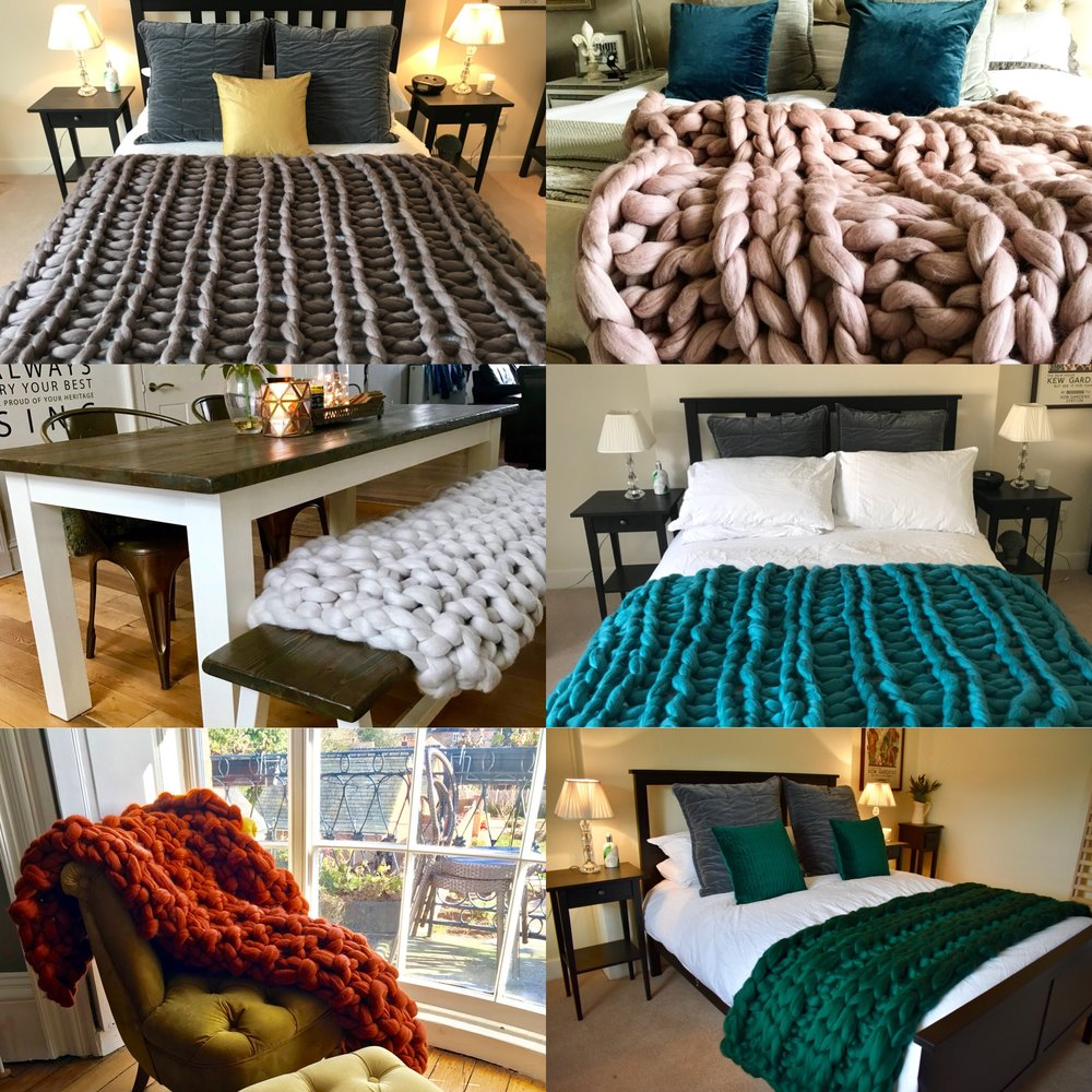 Go To The Blanket Shop - Click on the title to go directly to our bespoke blanket shop where in three easy steps you'll be able to design your very own, custom Chunky Needle blanket or throw.