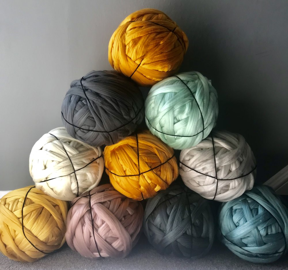 Chunky Acrylics Are Here! - A more cost friendly friend to the chunky merino, we introduce this striking range of 2kg pre-rolled balls of acrylic yarn. Perfect for arm knitting. Shop HERE