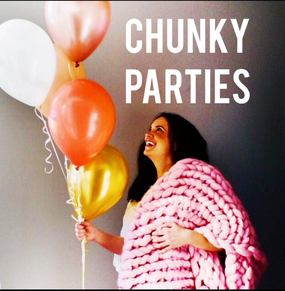 Chunky Parties Are Here! - Fancy hiring The Chunky Needle to hold a birthday party, hen do, celebration workshop? Click the link and go to our Party Shop