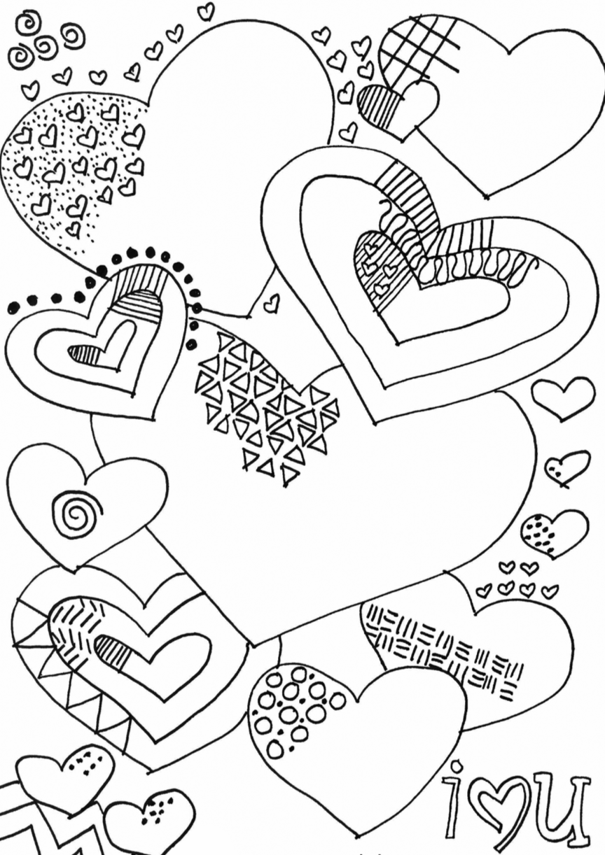 Complete the love doodle.