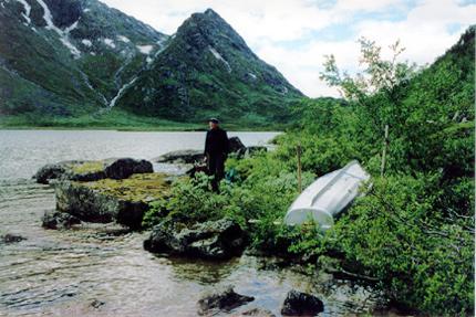 Båten ved Øvre Lreirungen
