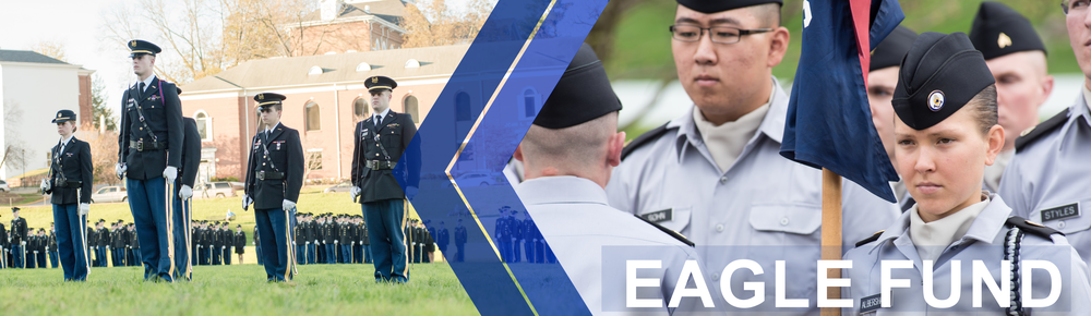 Eagle Fund page banner: features Corps of Cadets standing in formation on the drill field at the University of North Georgia in Dahlonega.