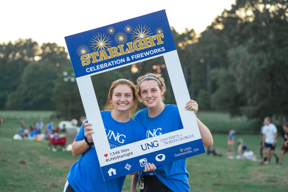University of North Georgia enjoy their time at the 2018 Starlight Celebration and Fireworks.