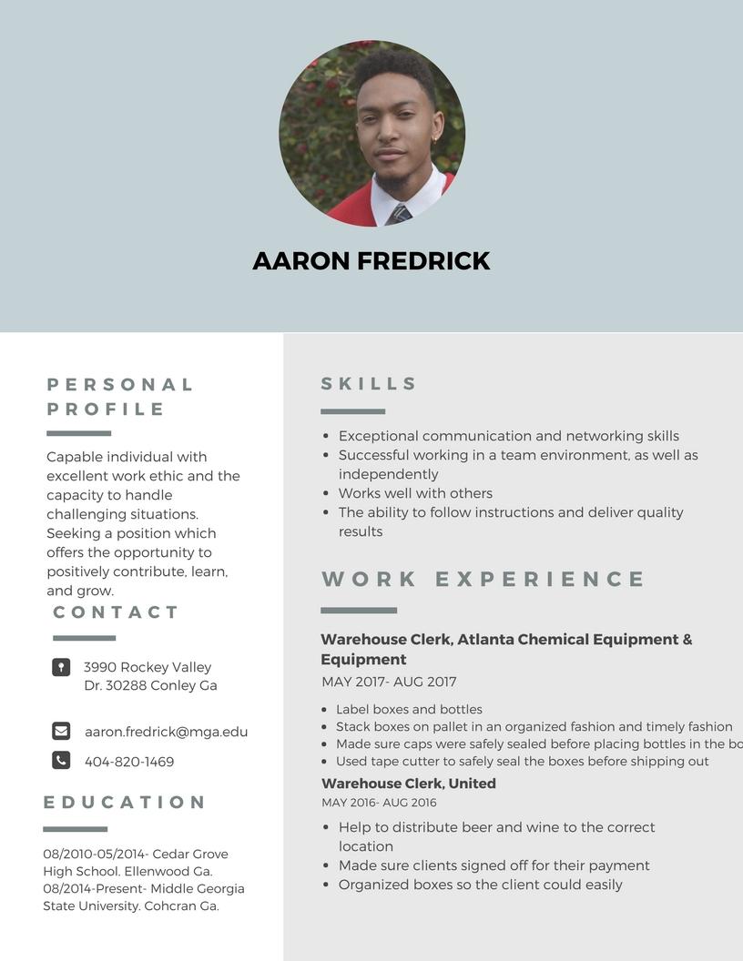 Resume — Aaron Fredrick