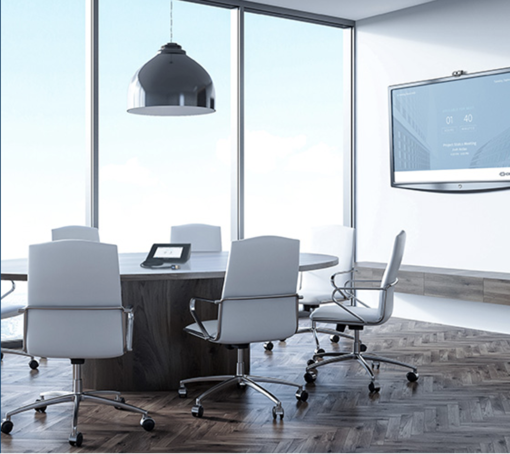 Small conference room powered by Creston Mercury