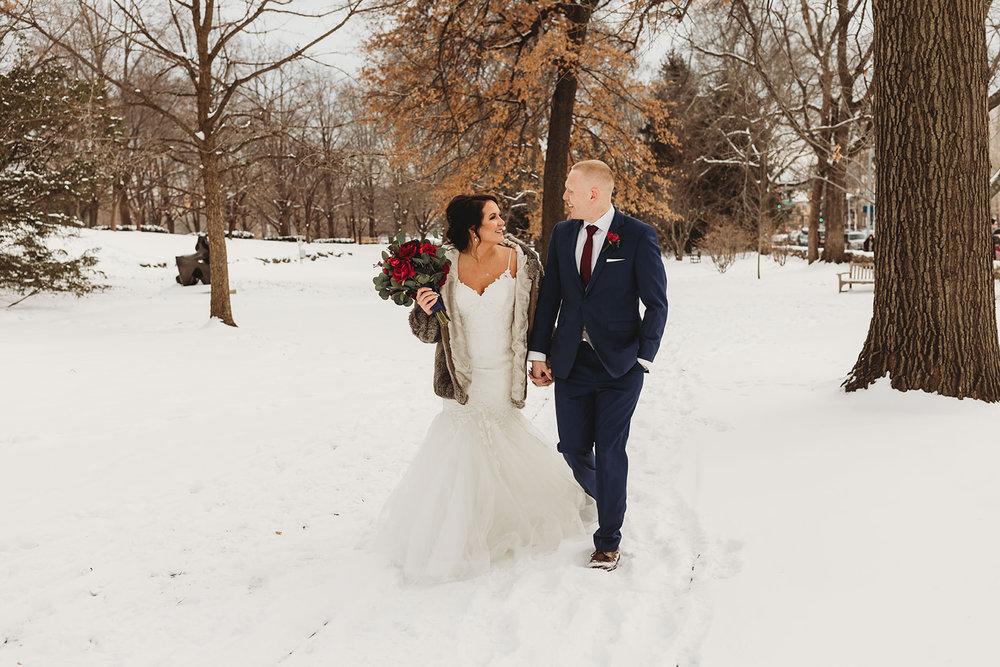 Snowy Wedding Day_Midwest Wedding_Bridal Shop