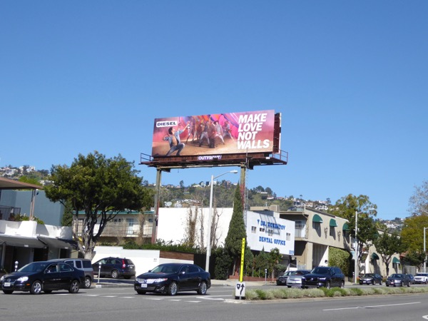 Diesel love not walls billboard.jpg