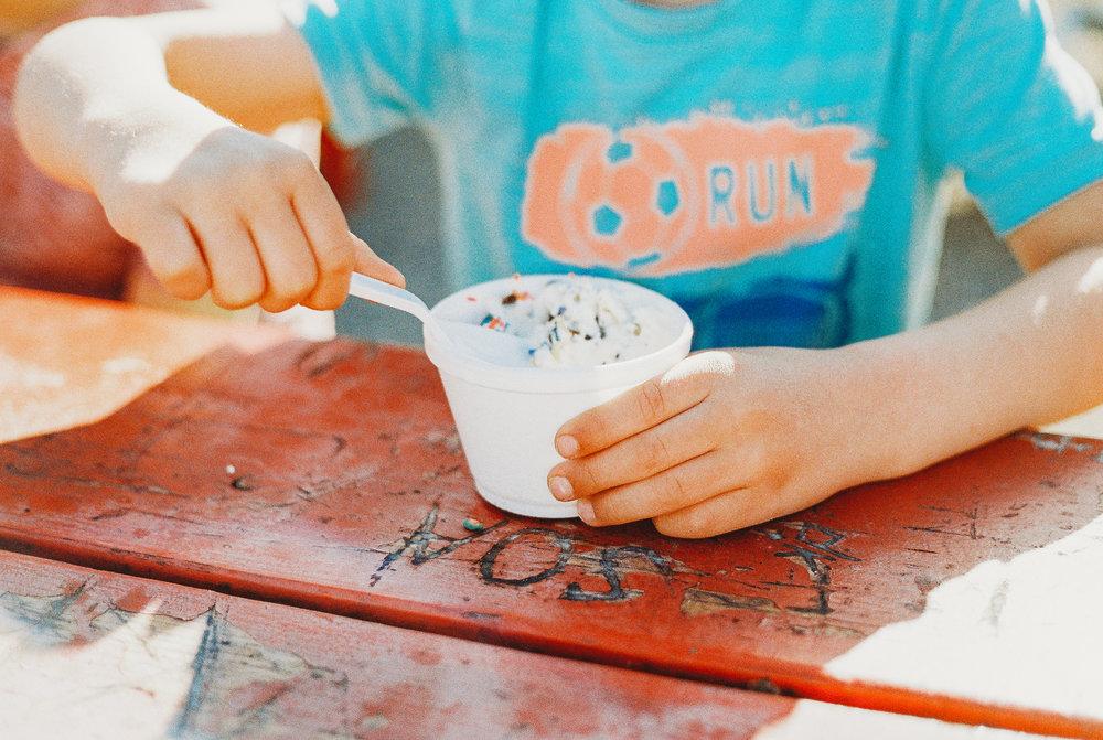 ice cream at rice fruit farm