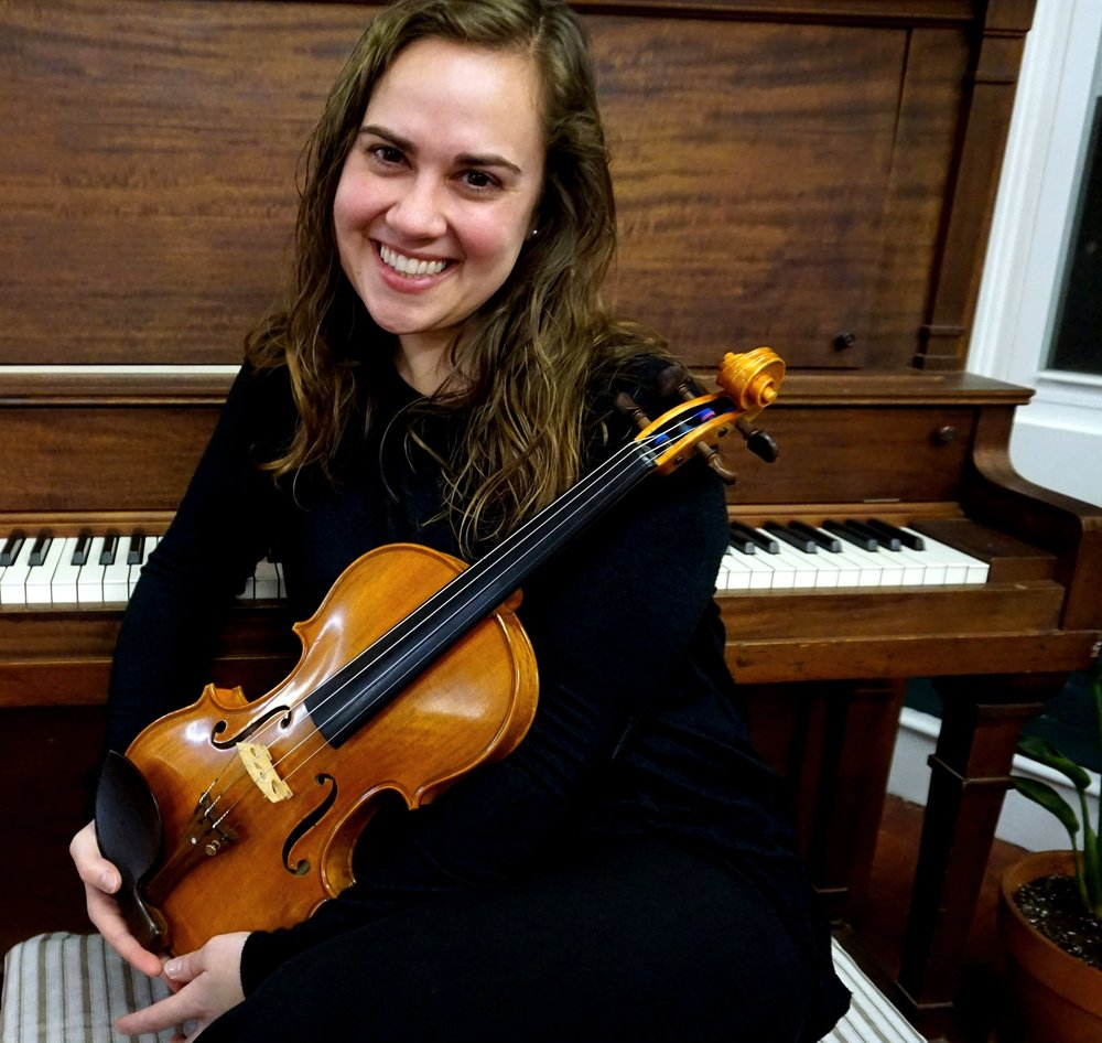 Sara Weir - ViolinSara graduated from the University of Rhode Island in 2009 receiving her Bachelor's degree in music education. While at URI she was awarded concertmaster of their Symphony Orchestra, the Kingston Chamber Music Festival Scholarship, and the Undergraduate Honors String Quartet Scholarship. Upon graduation Sara moved to Vermont to pursue her career in music education. While in VT, Sara taught a variety of music classes ranging from elementary school general music to high school chorus. She also built up a private studio with students of all ages and experiences.As Sara was working and performing full time, she completed her Master's degree in music education in 2015 from Boston University. Sara now resides in the Boston area, teaching band and orchestral instruments for grades 6-8 in the Cranston Public School system. In their after school program, Sara teaches guitar and ukulele.