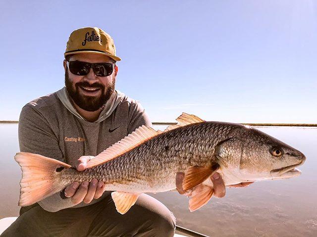 Had a no-show, so Cliffy got a freebie!  #flyfishing #redfish