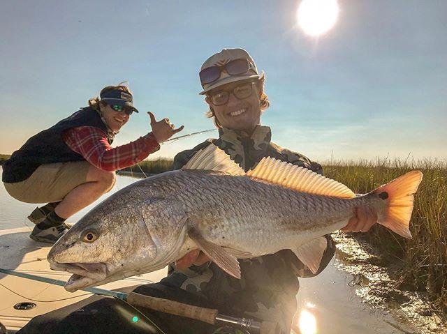 Mason and Garrett drove down from Laramie for some Texas winter redfish action! #redfish #flyfishing #flyfishtexas