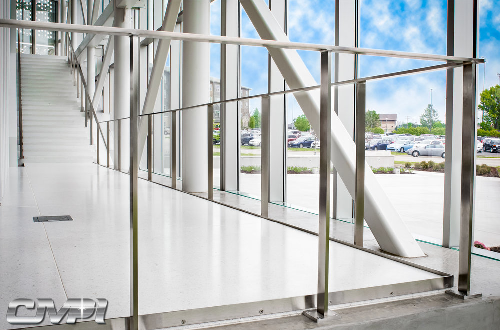 MSU Davis-Harrington Welcome Center Custom Stainless Handrail