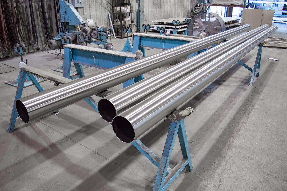 Extra Long Stainless Steel Pipe OD Polishing Services