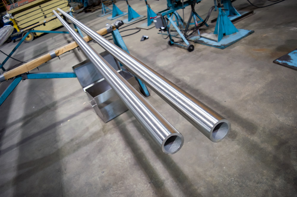 Long Stainless Steel Tube OD Polishing Services