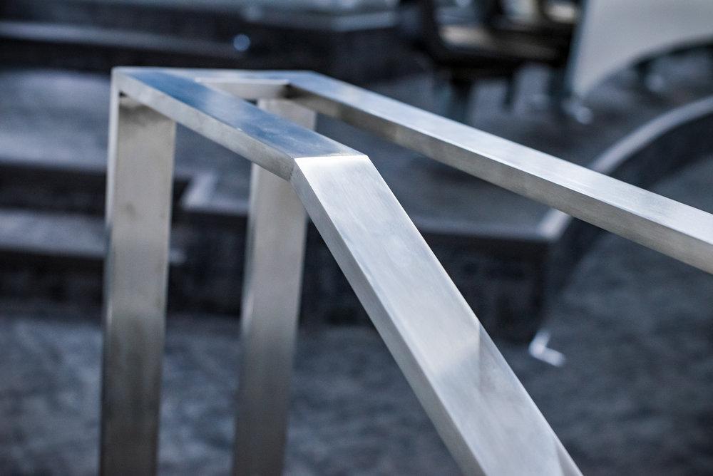 Custom Stainless Steel Single Line Railing Kit Flat Bar