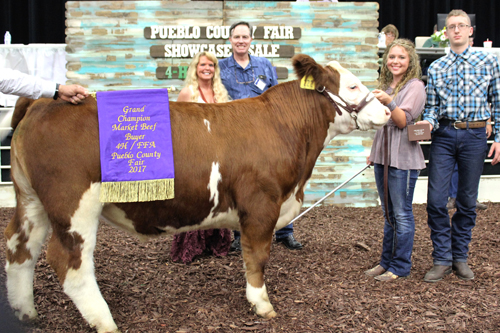 Grand Champion Beef  Buyer: Southwest Motors Price: $7,250.00 Seller: Ashlee Hanratty