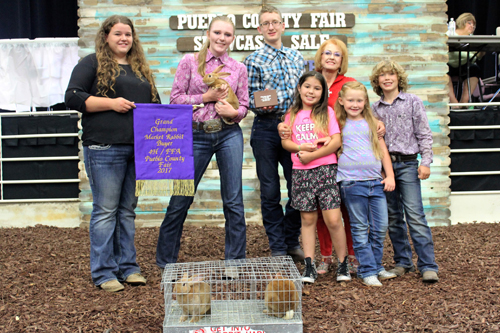 Grand Champion Market Rabbit  Buyer: Parker Excavating, Inc. Price: $1,300.00 Seller: Jessica Hastings