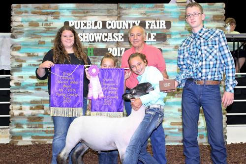 Grand Champion Market Sheep  Buyer: Mesa Pharmacy Price: $7,250.00 Seller: Breanne Farris