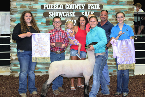 Reserve Grand Champion Market Sheep  Buyer: Bottini Wood Products Price: $4,500.00 Seller: Jessica Barker