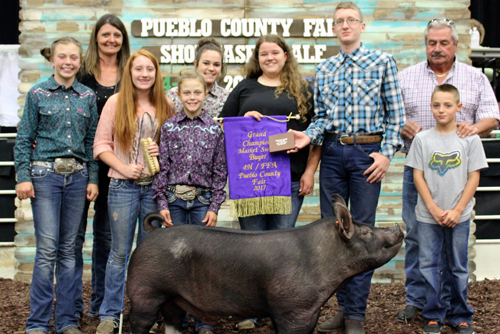Grand Champion Market Swine  Buyer:T&T Electric Price: $5,000.00 Seller: Lindsey McCurry