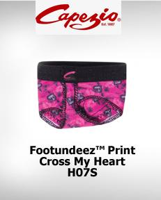 Capezio FootUndeez™ Cross My Heart