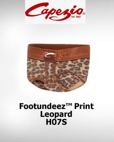 Capezio FootUndeez™ Leopard