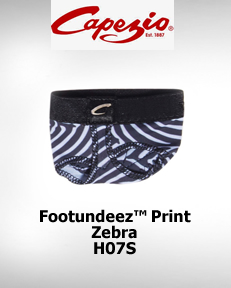 Capezio FootUndeez™ Zebra