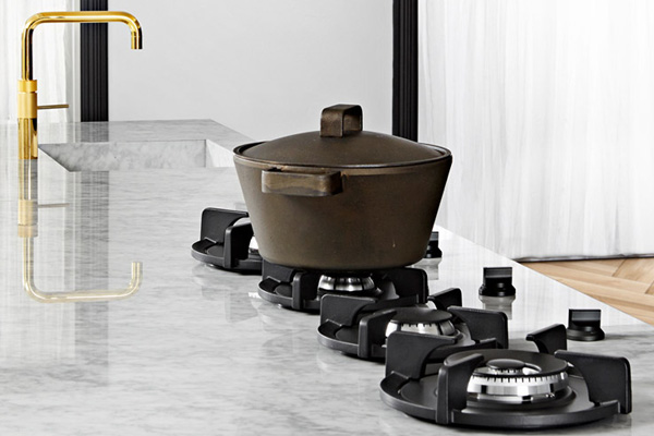 PITT PITT cooking has completely revolutionized the stove top. Making their burners integrated into the counter top creates an exquisite look while remaining extremely functional. When I first saw them, there was no question in my mind that they had to be incorporated into the Kitchen design. You can find PITT cooking via Better Distribution.   Learn more here