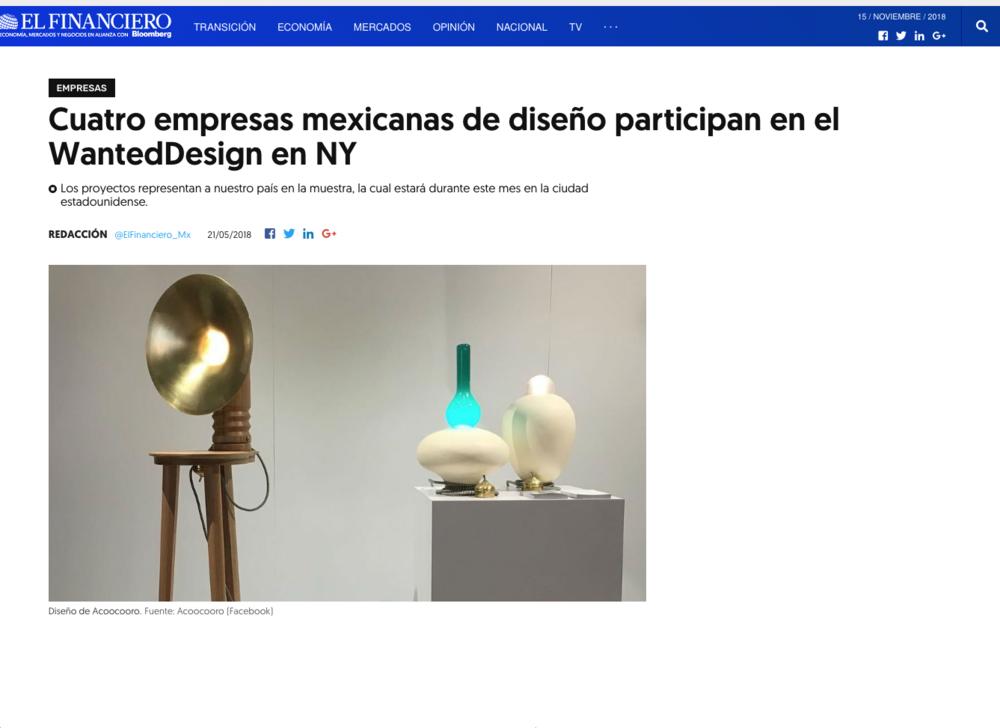 El Financiero – May 2018