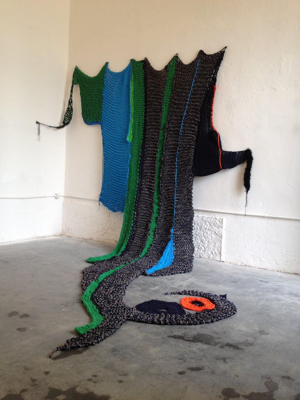 Exhibition @ Fabrica del vapore, Milan, with Tiziana Casteluzzo, Elena Zonca. Foto: Sheila Pepe