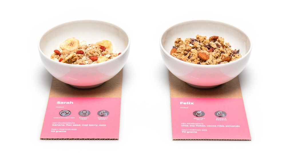 Comparison of two recipes for customers with different wellbeing goals