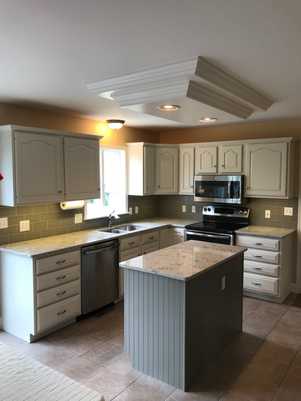 After - Kitchen cabinets painted white in Hummelstown pa