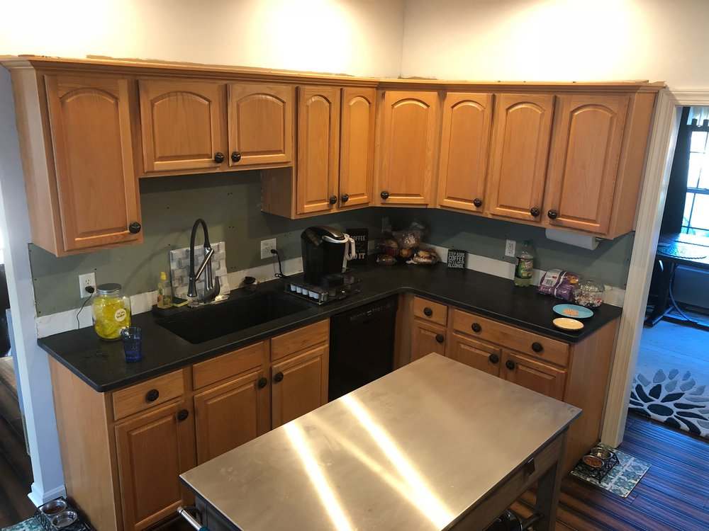Before - Kitchen Cabinet painting in Red Lion Pa