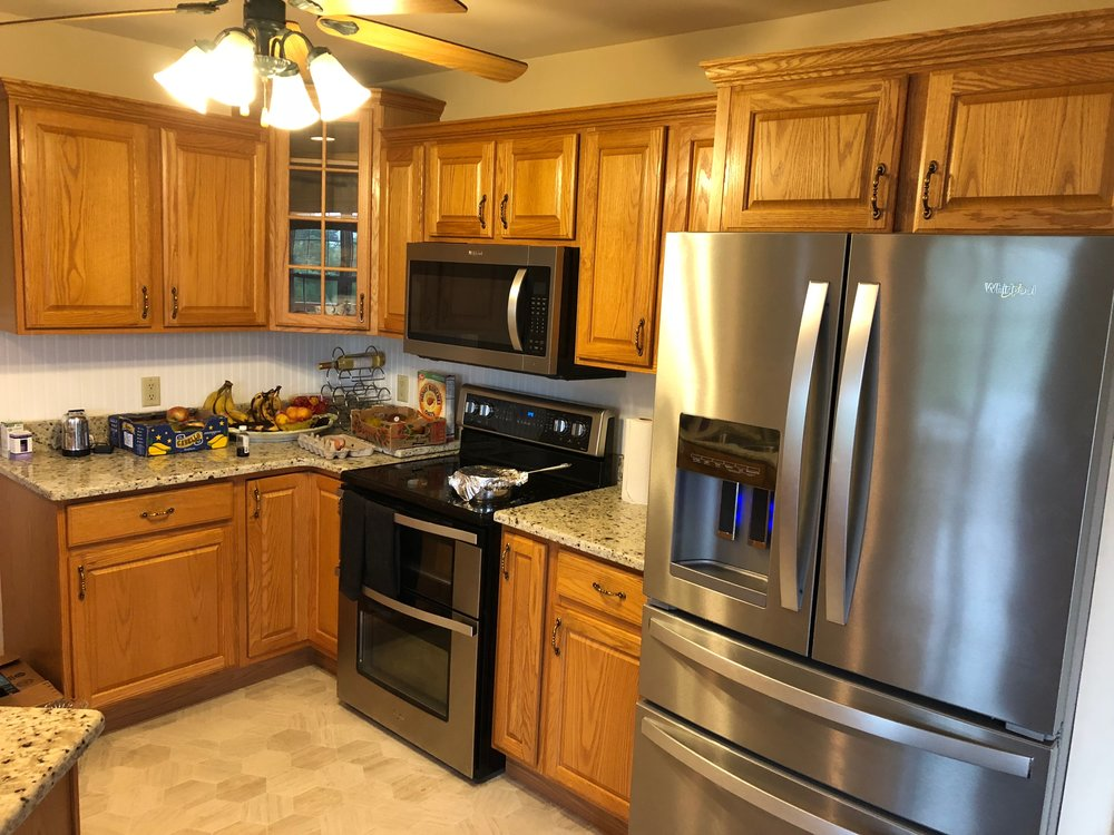 Before - Professional Kitchen Cabinet painting in York Pa