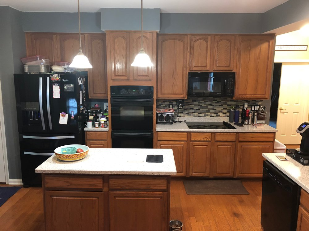 Before - Professional kitchen cabinet painting in Seven Valleys Pa