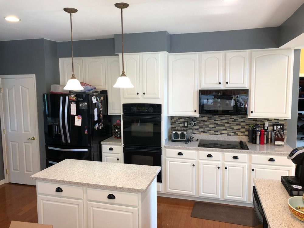 After - Kitchen cabinets painted white in Seven Valleys Pa