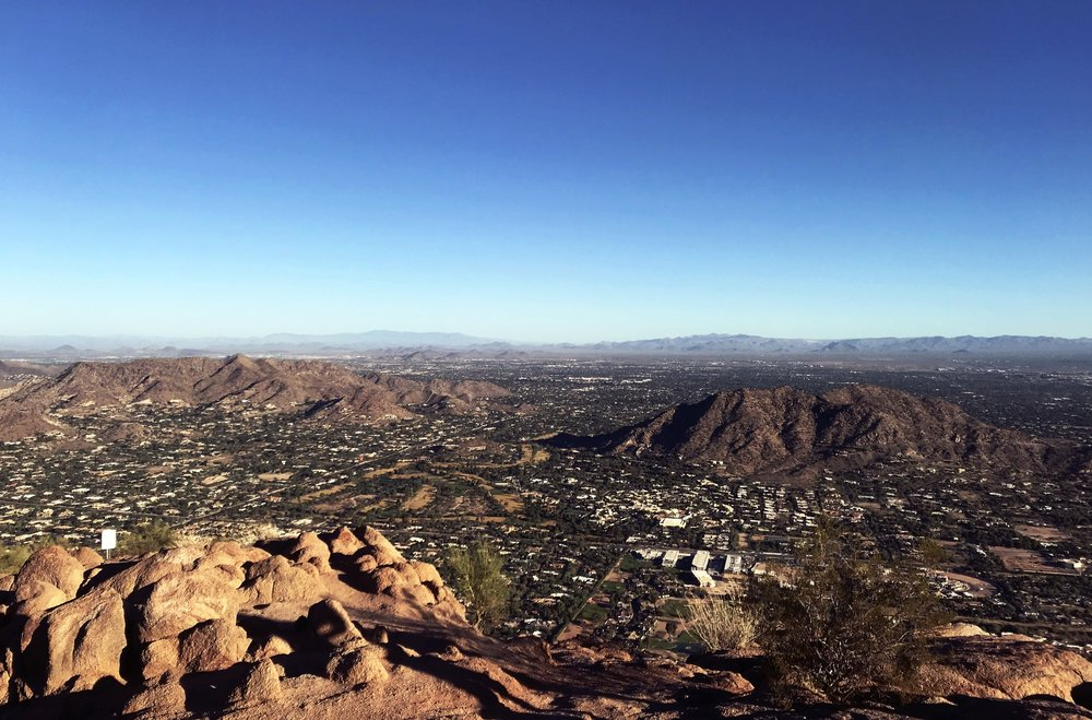 View from the top of Camelback. Doesn't really look it, but that's wayy far down