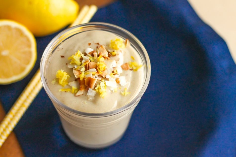 Lemon Meringue Pie smoothie - Recipe by: Eat Spin Run RepeatCan add a date for extra sweetness